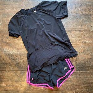 Adidas bundle top and shorts